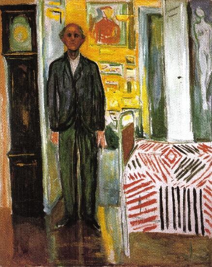 Blog do Charles Fonseca  Auto-retrato entre relógio e cama. Munch ... 6319e4a82e