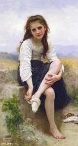 William Adolphe Bouguereau - Antes do banho