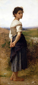 William Adolphe Bouguereau - os jovens Pastora
