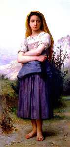William Adolphe Bouguereau - Bergere 1886