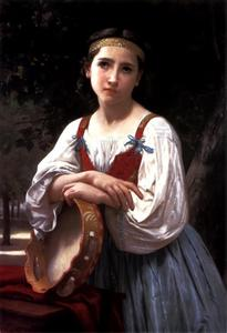William Adolphe Bouguereau - Bohemienne o tambor Basque