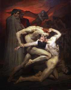 William Adolphe Bouguereau - Dante e Virgílio no Inferno