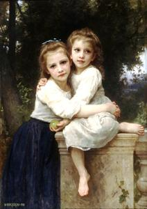 William Adolphe Bouguereau - Duas irmãs