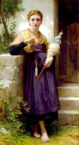 William Adolphe Bouguereau - Fileuse