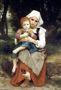 William Adolphe Bouguereau - Breton irmão e irmã