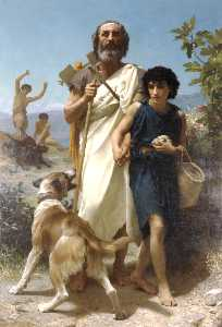 William Adolphe Bouguereau - Homer e seu guia
