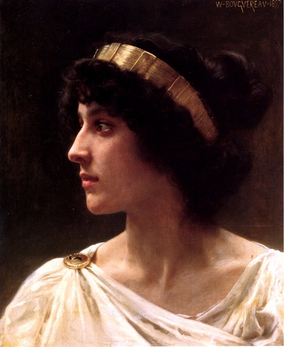 Irene, óleo por William Adolphe Bouguereau (1825-1905, France)
