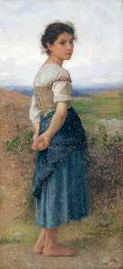 William Adolphe Bouguereau - Jovem pastora CA