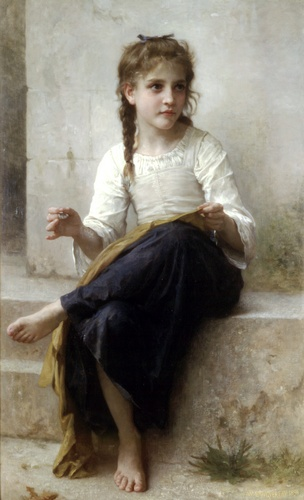 A costureira por William Adolphe Bouguereau (1825-1905, France) | Copy Pintura | WahooArt.com