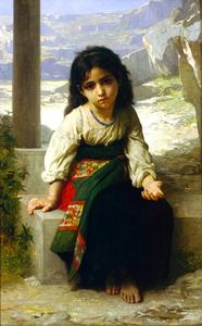 William Adolphe Bouguereau - The Little Beggar
