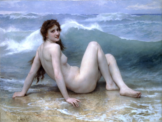 o onda, 1896 por William Adolphe Bouguereau (1825-1905, France) | Museu De Reproduções De Arte William Adolphe Bouguereau | WahooArt.com