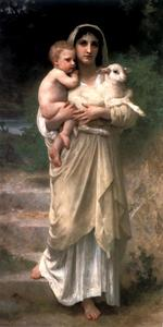 William Adolphe Bouguereau - Le Jeune Bergere 1897