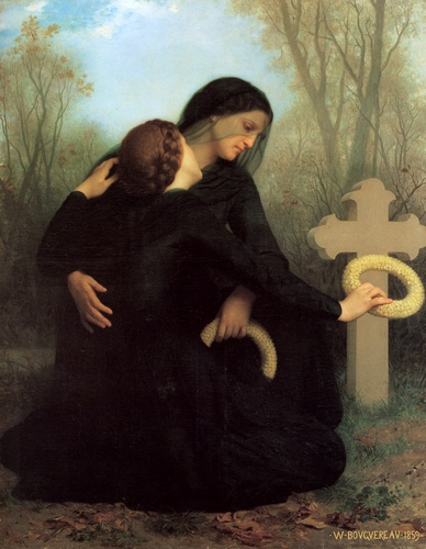 Dia dos Mortos, óleo por William Adolphe Bouguereau (1825-1905, France)