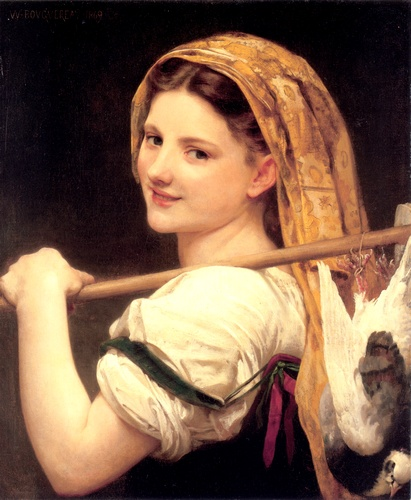 O retorno da caminhada, óleo por William Adolphe Bouguereau (1825-1905, France)