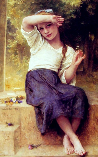 Margarida, óleo por William Adolphe Bouguereau (1825-1905, France)