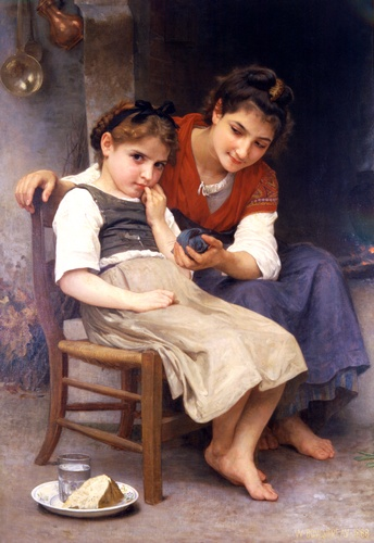 Pouco emburrado por William Adolphe Bouguereau (1825-1905, France) | Copy Pintura | WahooArt.com