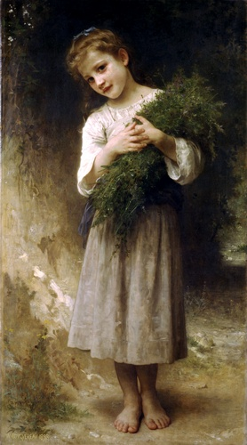 De volta aos campos, óleo por William Adolphe Bouguereau (1825-1905, France)