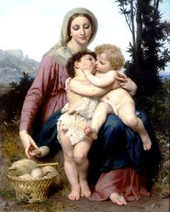 William Adolphe Bouguereau - família sagrada