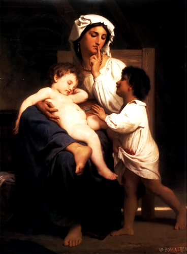 Torpor, óleo por William Adolphe Bouguereau (1825-1905, France)