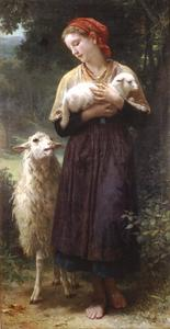 William Adolphe Bouguereau - A Pastora 1873 165.1x87.6cm
