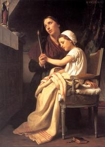 William Adolphe Bouguereau - A oferta de gratidão