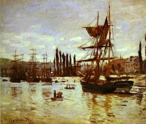 Claude Monet - Navios no Rouen