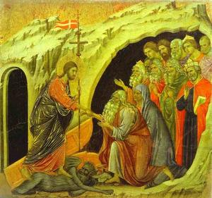 Duccio Di Buoninsegna - maestó ( painel , painel central ) , christ no limbo