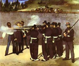 Edouard Manet - a execução do imperador maximiliano do méxico