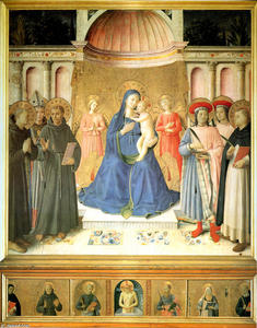 Fra Angelico - Bosco inteligência artificial Frati Retábulo