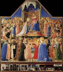 Fra Angelico - coroação do a virgem