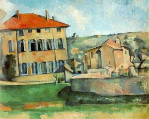 Paul Cezanne - House and Farm em Jas de Bouffan