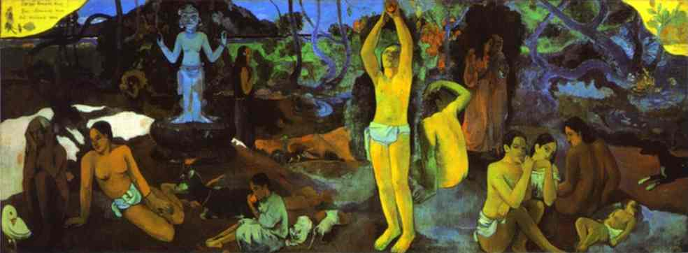 D`où venenos mente That sommes-nous Uo allons-nous ( where do we vem . o que somos . para onde estamos indo ) por Paul Gauguin (1848-1903, France) | Reproduções De Arte Paul Gauguin | WahooArt.com