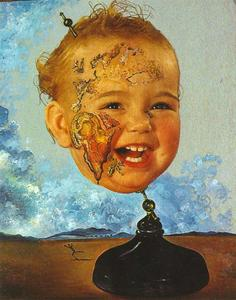 Salvador Dali - bebé mapa do mundo 1939