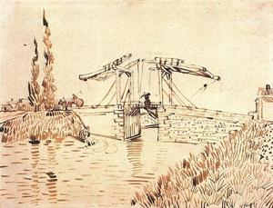 Vincent Van Gogh - Drawbridge com Lady with Parasol