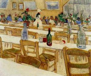 Vincent Van Gogh - Interior do Restaurante Recanto em arles