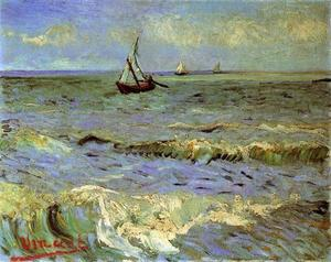 Vincent Van Gogh - Seascape em Saintes-Maries