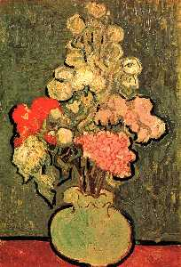 Vincent Van Gogh - natureza morta Vaso com Rose-Mallows
