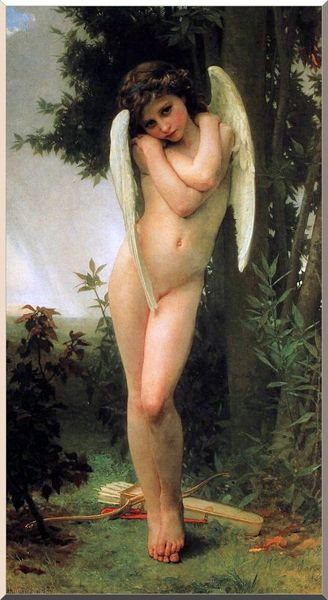 Cupidon, óleo por William Adolphe Bouguereau (1825-1905, France)