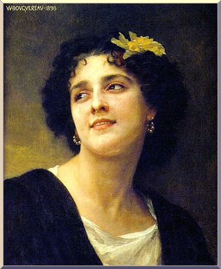 escuro beleza, Petróleo por William Adolphe Bouguereau (1825-1905, France)