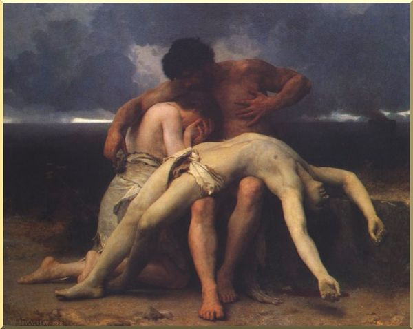 Primeiro Mourning por William Adolphe Bouguereau (1825-1905, France) | WahooArt.com