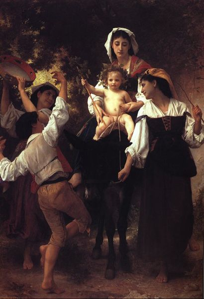 Retorno da Colheita, Petróleo por William Adolphe Bouguereau (1825-1905, France)