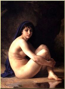 William Adolphe Bouguereau - sentado nu