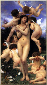 William Adolphe Bouguereau - o `return` de primavera
