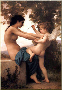 William Adolphe Bouguereau - Rapariga que defende-se contra o Eros