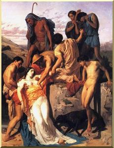 William Adolphe Bouguereau - Zenobia encontrou em Shepherds nos bancos do Araxes