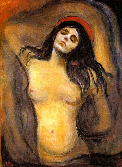 Madona, Petróleo por Edvard Munch (1863-1944, United Kingdoms Of Sweden And Norway)