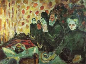Edvard Munch - Perto do leito de morte febre