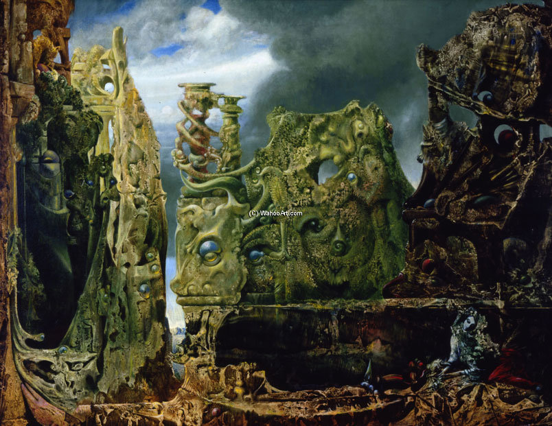 The Eye of Silence, 1943 por Max Ernst (1891-1976, Germany) | WahooArt.com