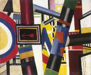 Fernand Leger - Esboço para The Crossing Railway