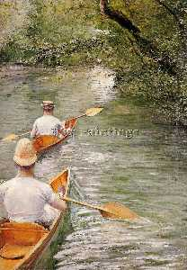 Gustave Caillebotte - Perissoires aka as canoas